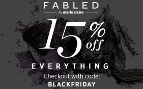 Fabled by Marie Claire黑五全场美妆护肤产品15%OFF