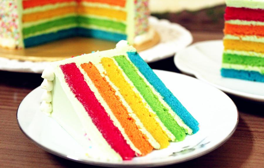如何制作彩虹蛋糕?