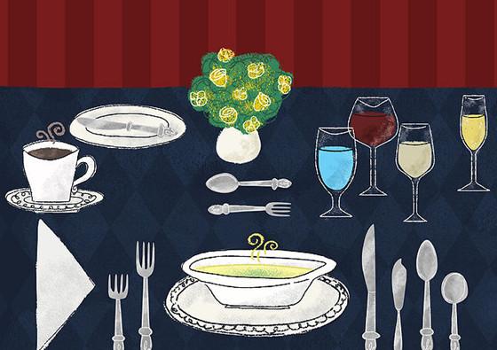 西餐中的刀叉摆放与用法普及