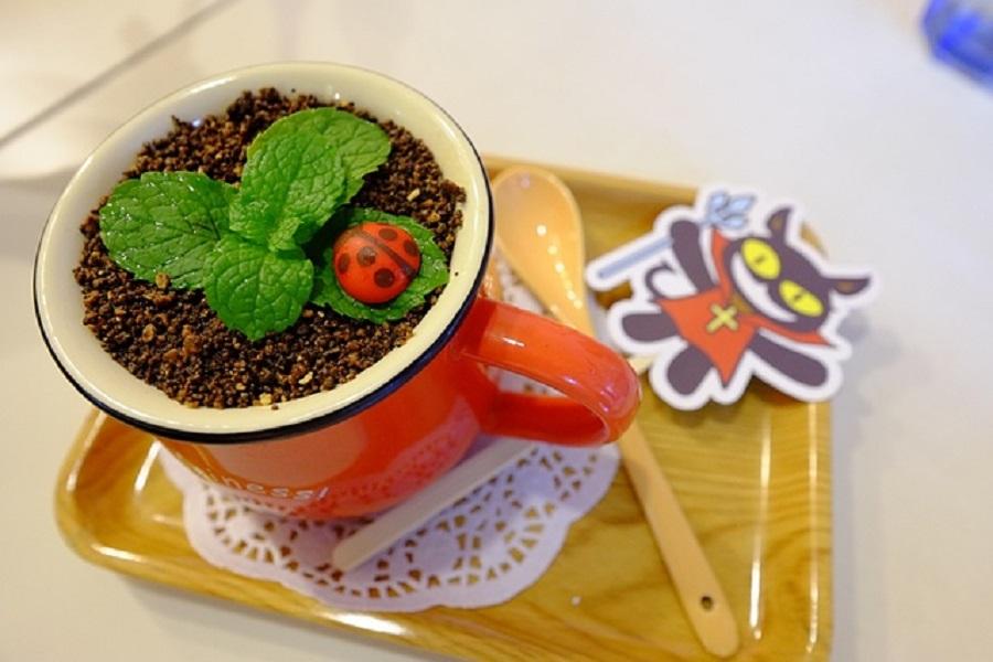 如何制作盆栽咖啡奶茶?