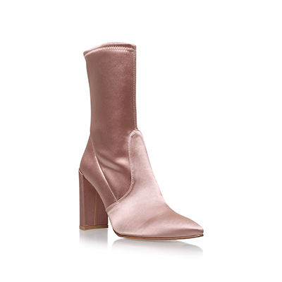 Stuart Weitzman Satin Clinger Ankle Boots 90 短靴 丝绒