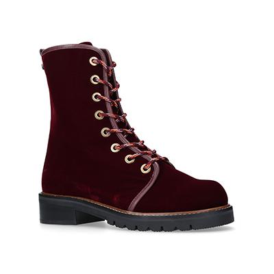 Stuart WeitzmanVelvet Metermaid Combat Boots 马丁靴