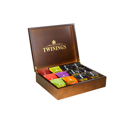 Twinings Deluxe Compartment Wooden Tea Box