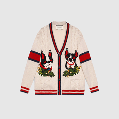 Gucci Women's cardigan with Orso and Bosco