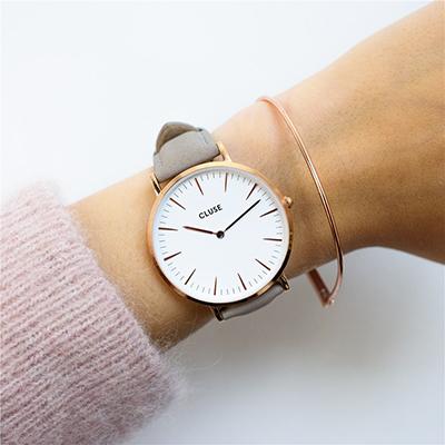 CLUSELA BOHÈME Rose Gold & Grey Watch