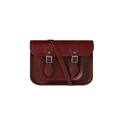 The Cambridge Satchel Company 11 inch Magnetic Satchel in Leather - Oxblood