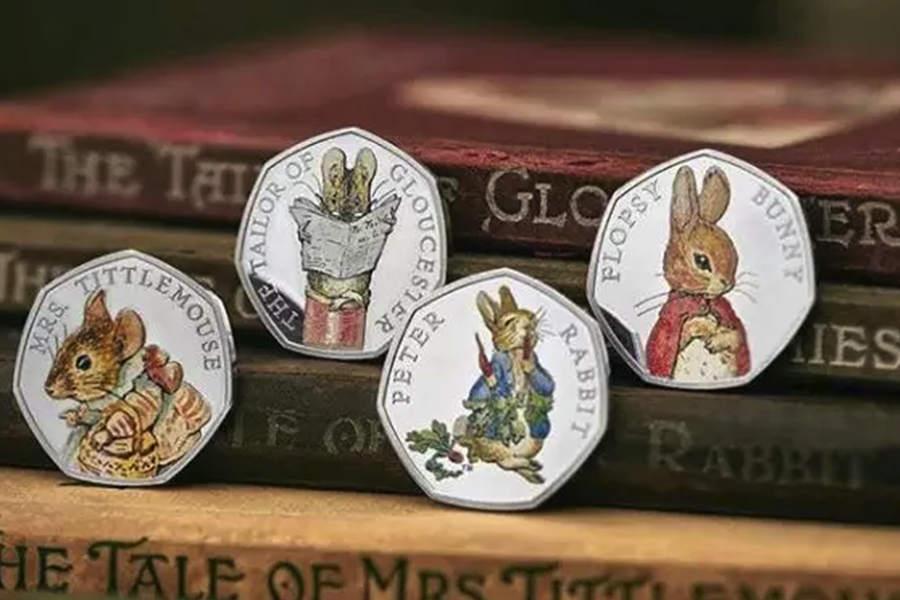 Peter Rabbit彼得兔纪念币2018年最新款,现已发售