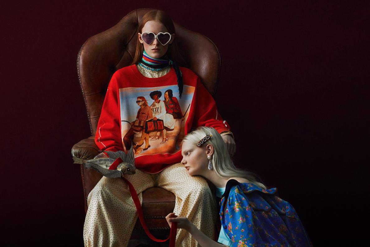 爆款印刷机Gucci的合作限定新系列,华丽上线!
