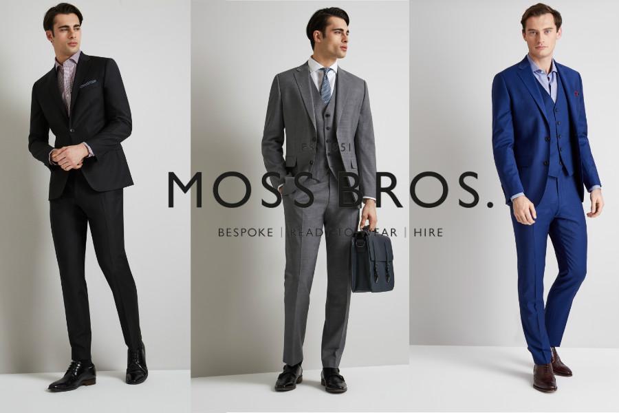 Moss Bros双十一全场20%OFF,男生们请进