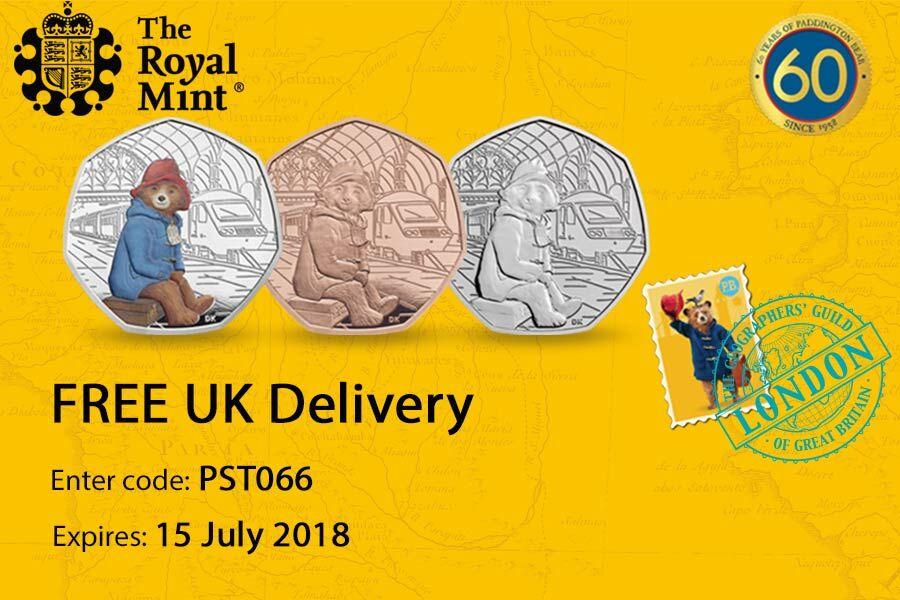 The Royal Mint英国皇家铸币厂,帕丁顿熊纪念币限量发售!