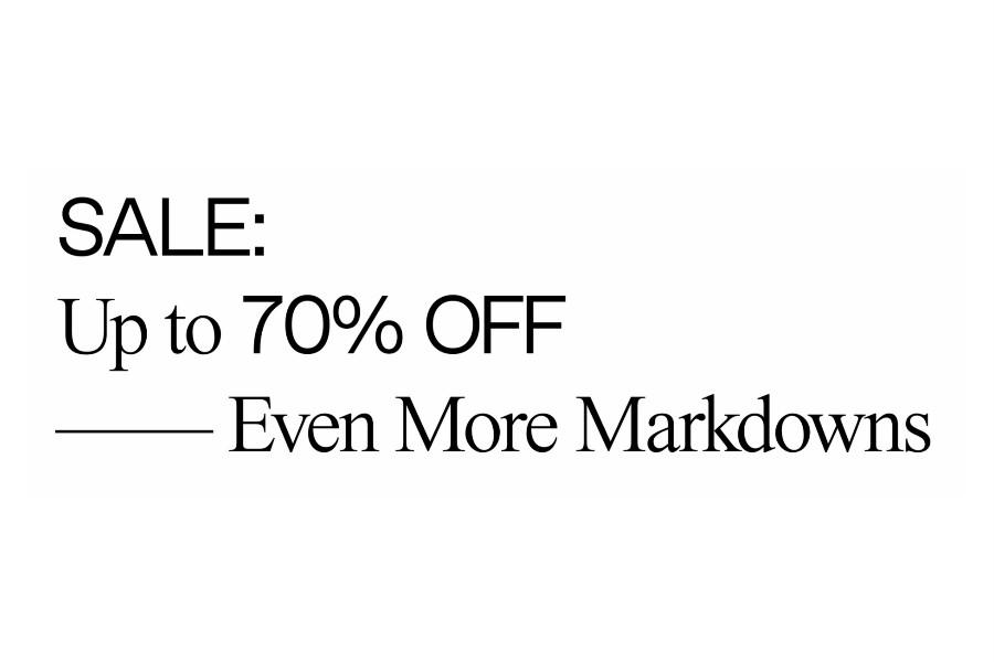SSENSE | 奢侈品电商夏季折扣精选款高达70%OFF!来收GGDB小脏鞋、Acne Studios!