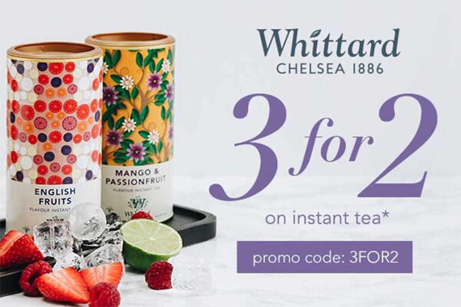 Whittard of Chelsea速溶茶3FOR2折扣来了!