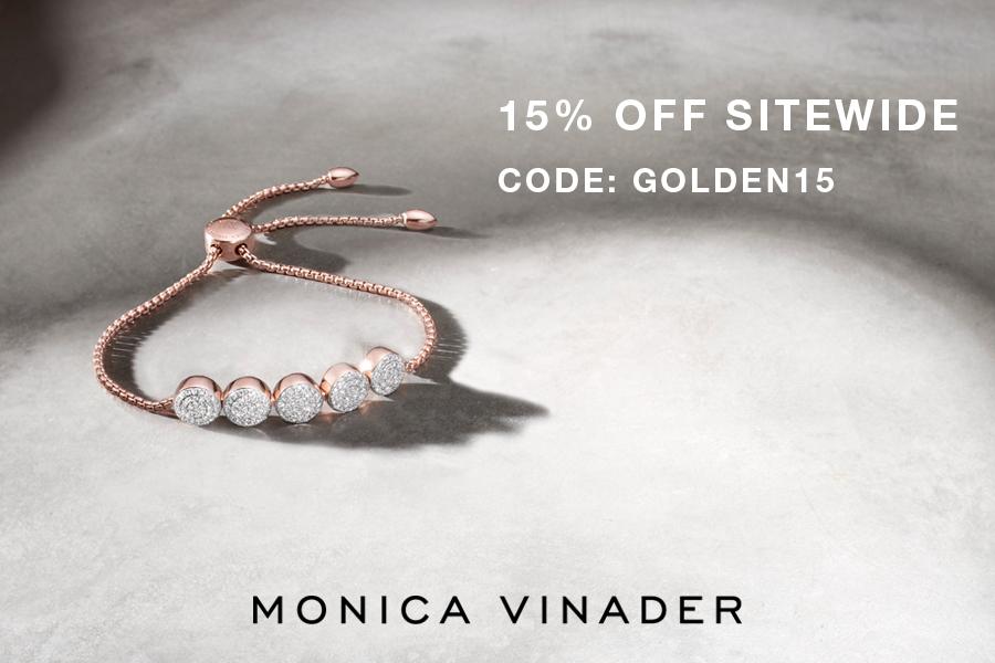 英国轻奢珠宝品牌Monica Vinader黄金周折扣来啦,官网全场限时15%OFF!