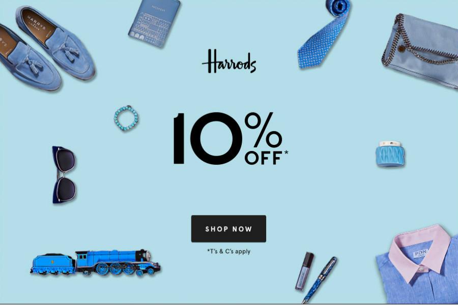 Harrods周末九折!Fresh,Suqqu,小脏鞋等品牌都参与!家居产品享受折上折!