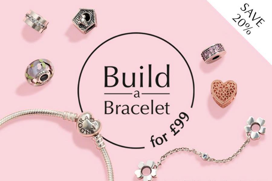 PANDORA潘多拉   纯银链扣手镯+任2款精选串饰只要£99!