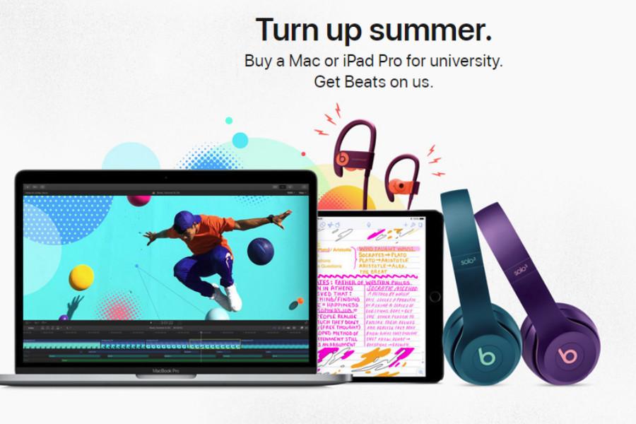Apple苹果开学季买Mac、iPad Pro送Beats耳机!最高直减270镑!