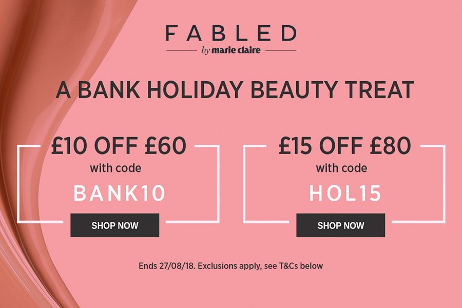 Fabled大牌美妆护肤Bank Holiday限时折扣,雅诗兰黛,NARS,YSL等最高直减£15!