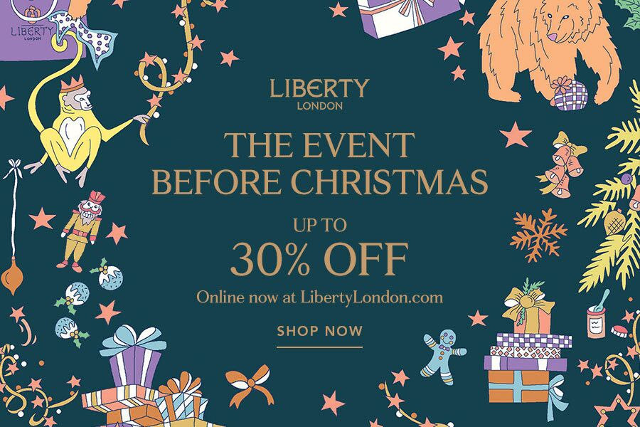 Liberty英国老牌精品百货黑五折扣,全场高达30%OFF+双倍积分!Givenchy,Loewe都参与!