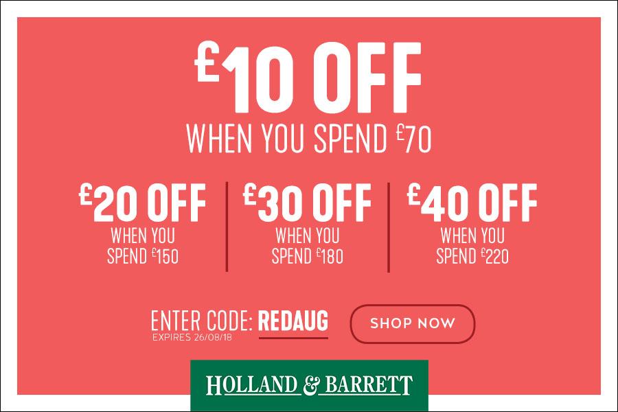 Holland & Barrett低至5折+叠加红领巾独家满减优惠+一天免邮!