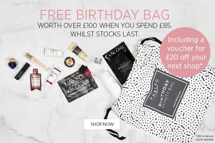 Fabled生日礼包大放送!买满就有价值£100礼包,还附赠£20购物券!