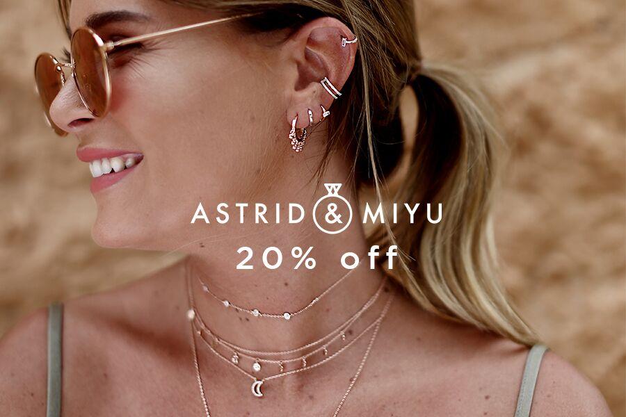Astrid & Miyu小众设计师首饰品牌独家20%OFF,好看不贵还不撞款!