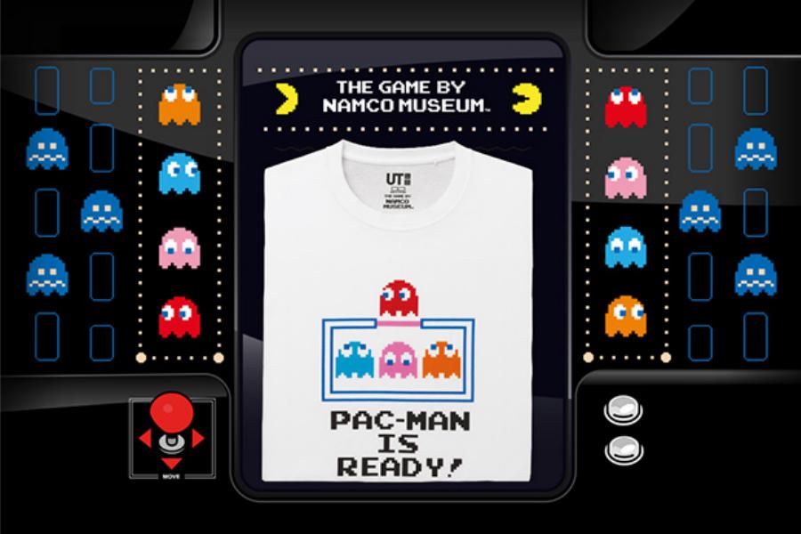 Uniqlo优衣库×日本知名游戏公司NAMCO联名T恤发售,Pac-Man吃豆人跑到衣服上啦!