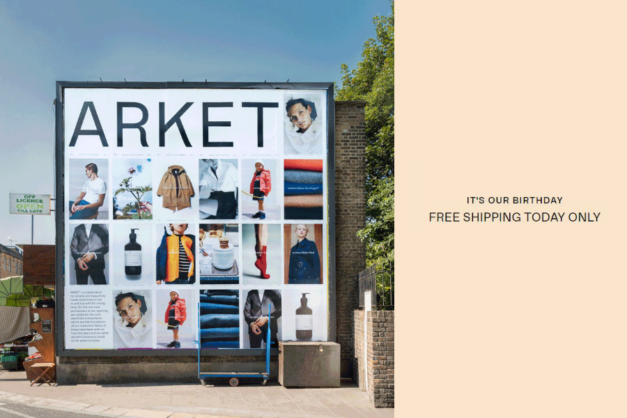 H&M集团最年轻成员Arket一周岁啦!全网免运活动开始!仅限一天!