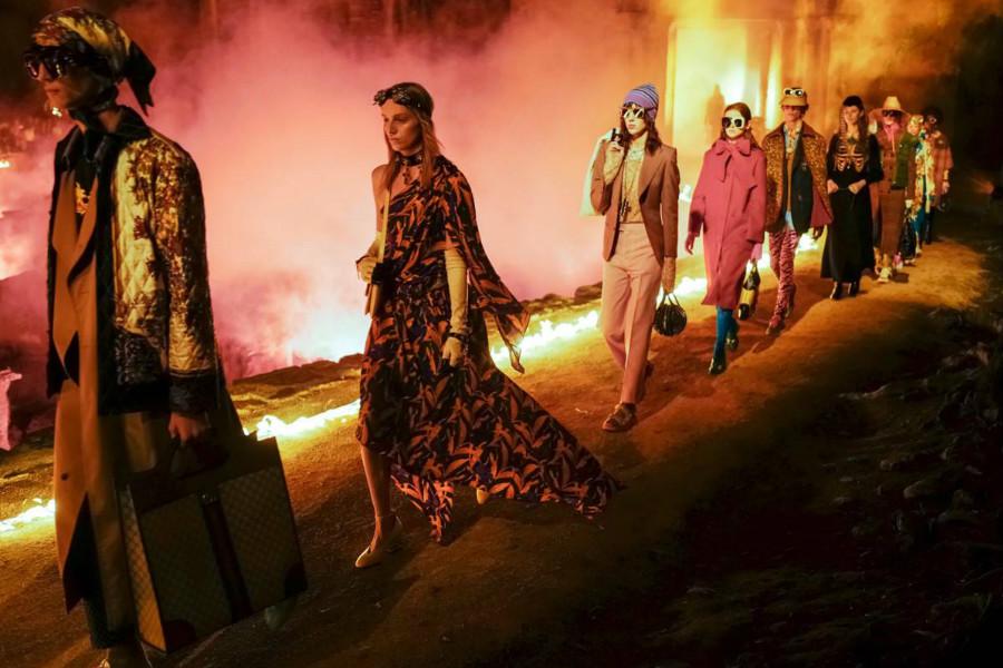 Gucci复古哥特风2019早春系列新品上线!在墓地举行的时装大秀需要了解一下