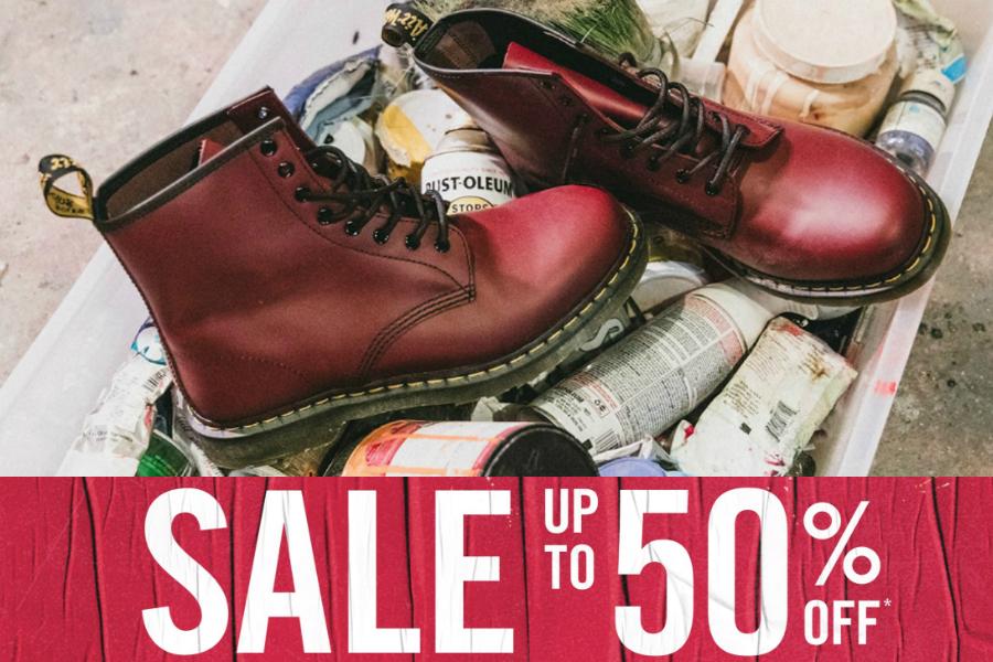 Dr. Martens | 经典马丁靴高达50%OFF,秋冬搭配超加分!