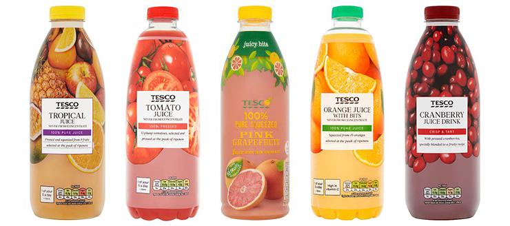 TESCO果汁