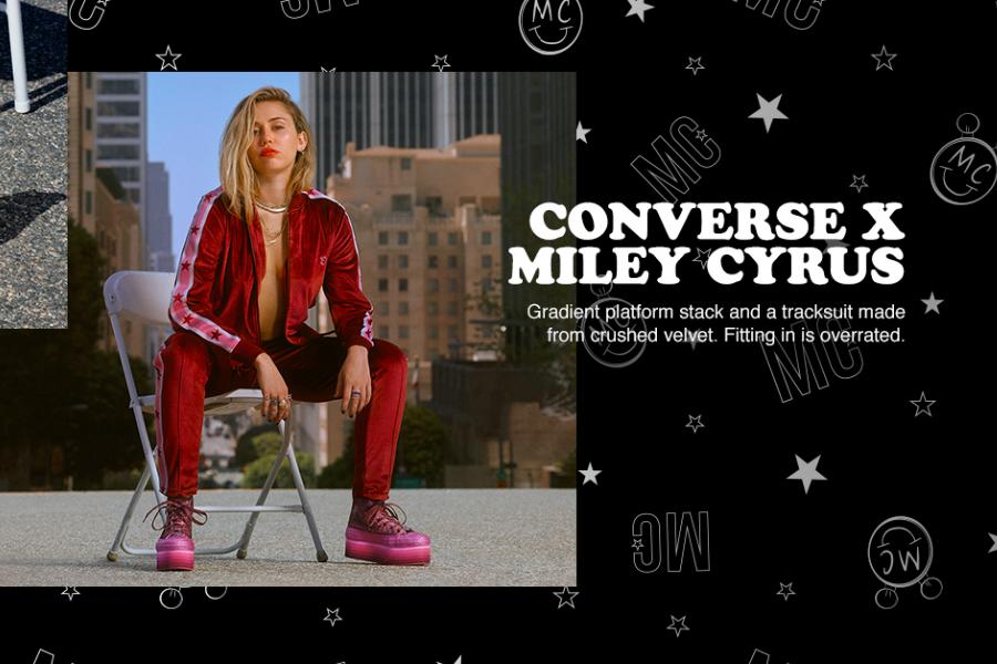 Converse匡威全场消费满£80享7折!全新Miley Cyrus假日联名系列趁折扣收!