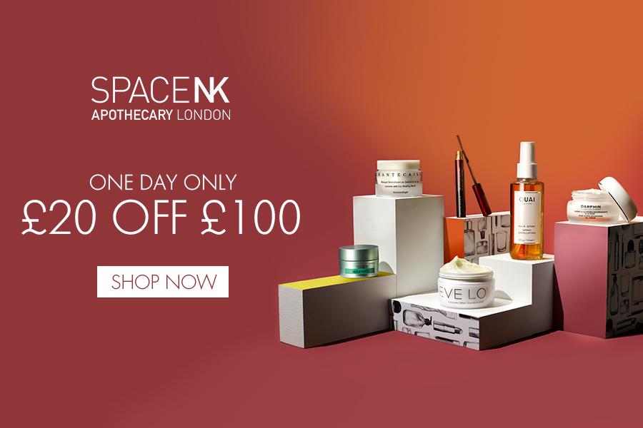 Space NK闪促一天!全场高端护肤美妆满£100减£20