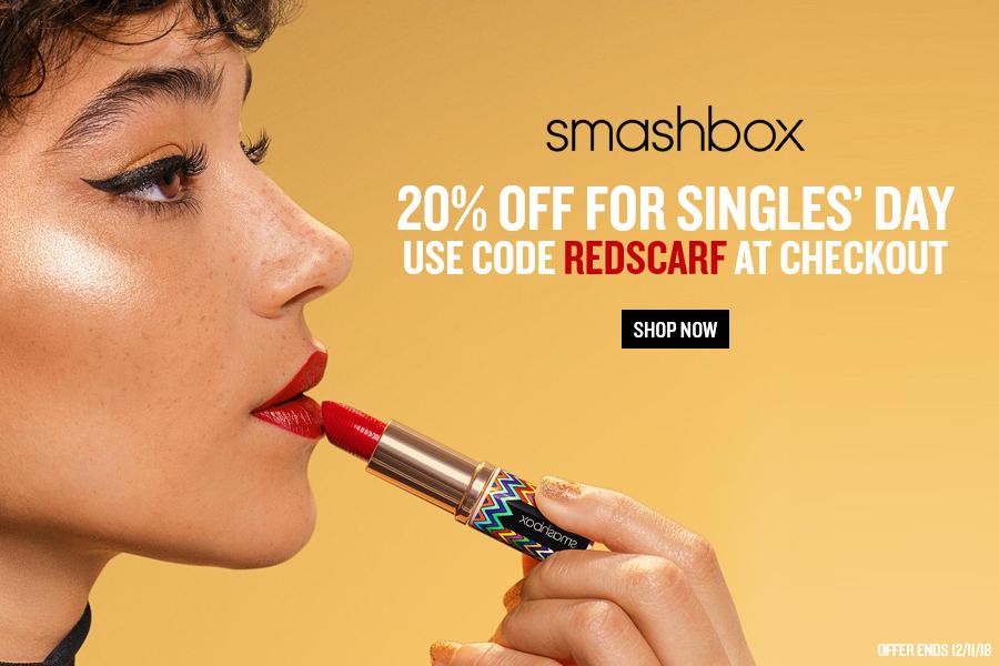 Smashbox双十一全场独家折扣!20%OFF收爆款美妆