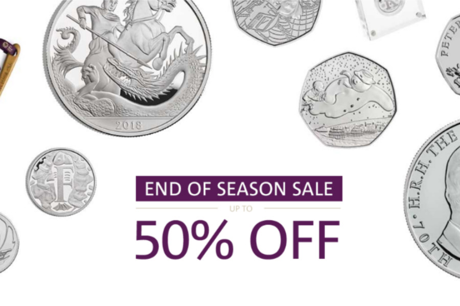 The Royal Mint英国皇家铸币厂季末折扣高达50%OFF,帕丁顿熊,彼得兔也在内!