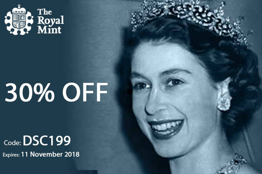 The Royal Mint英国皇家铸币厂双十一30%OFF!