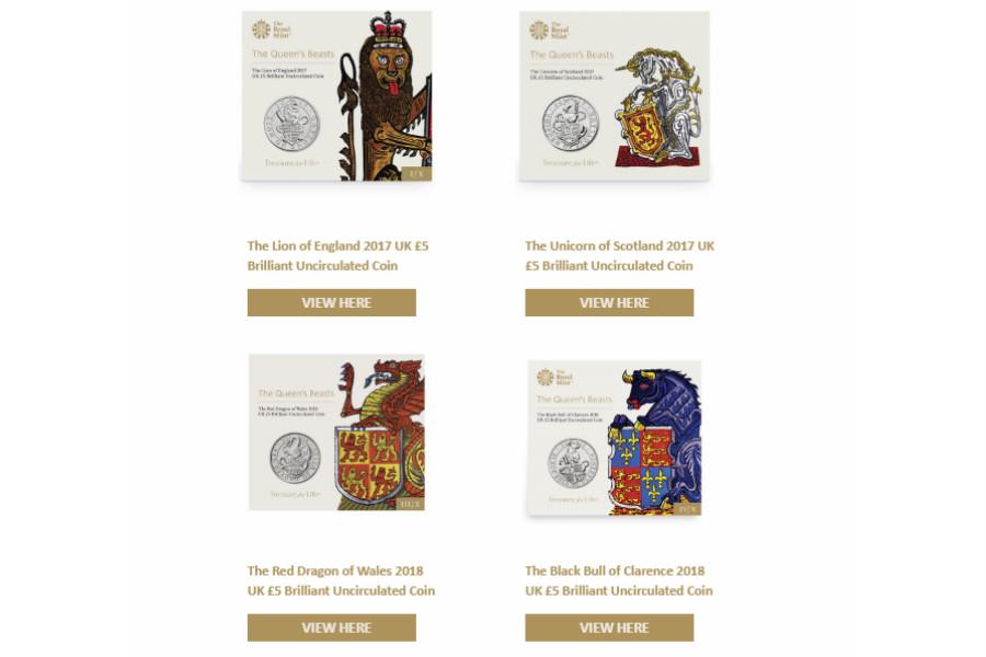 The Royal Mint英国皇家铸币局,买3就有25%OFF!