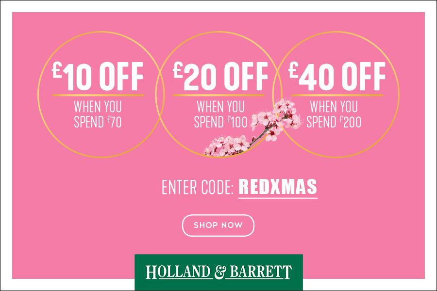 Holland & Barrett红领巾独家最高直减40镑,可叠加Penny Sale+次日免运!