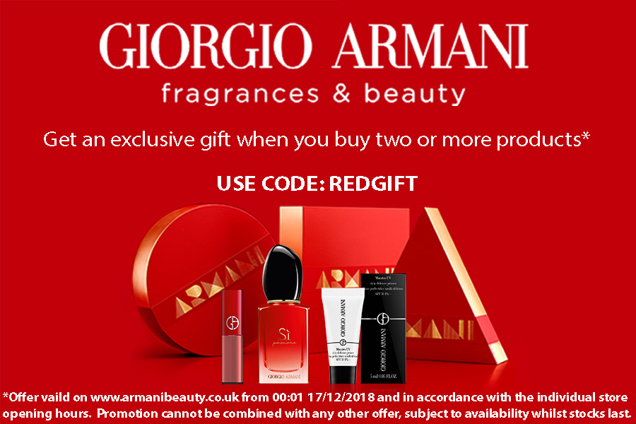 Giorgio Armani阿玛尼红领巾独家,买二赠三款豪华小样,唇釉、香水和妆前乳!