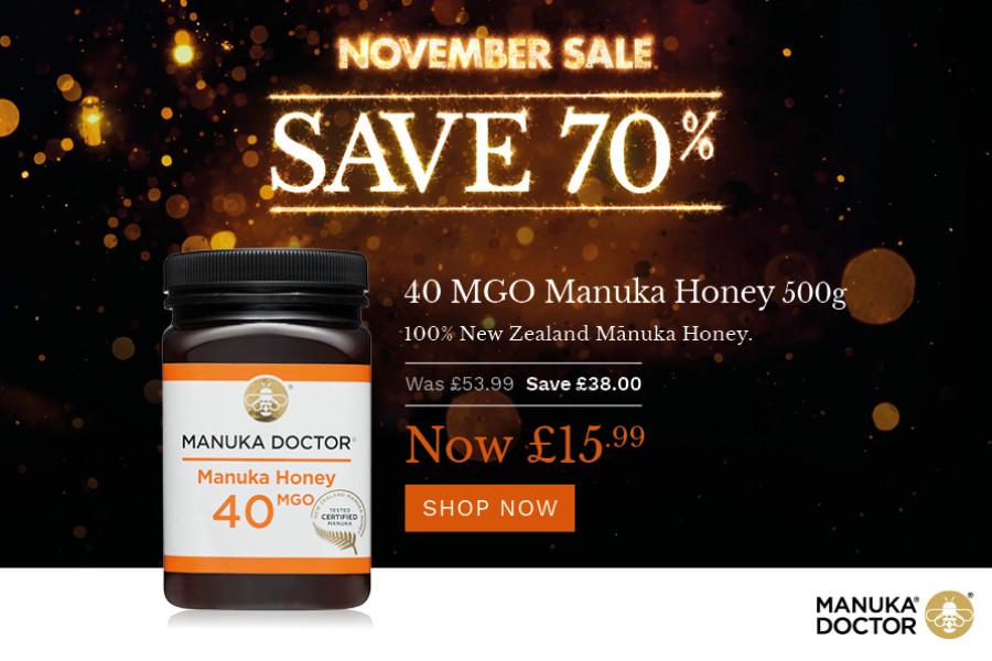 Manuka Doctor麦卢卡蜂蜜和天然护肤品低至三折,即将结束!