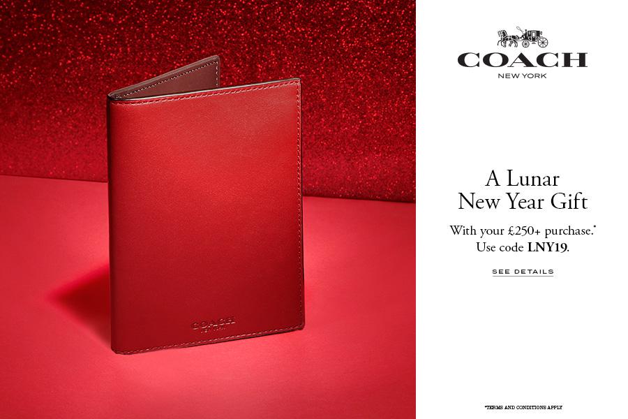 Coach蔻驰CNY新年系列上线,满250镑还有新年礼物拿!