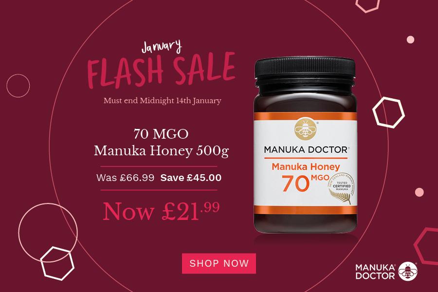 Manuka Doctor麦卢卡蜂蜜闪销,最多可省£45!