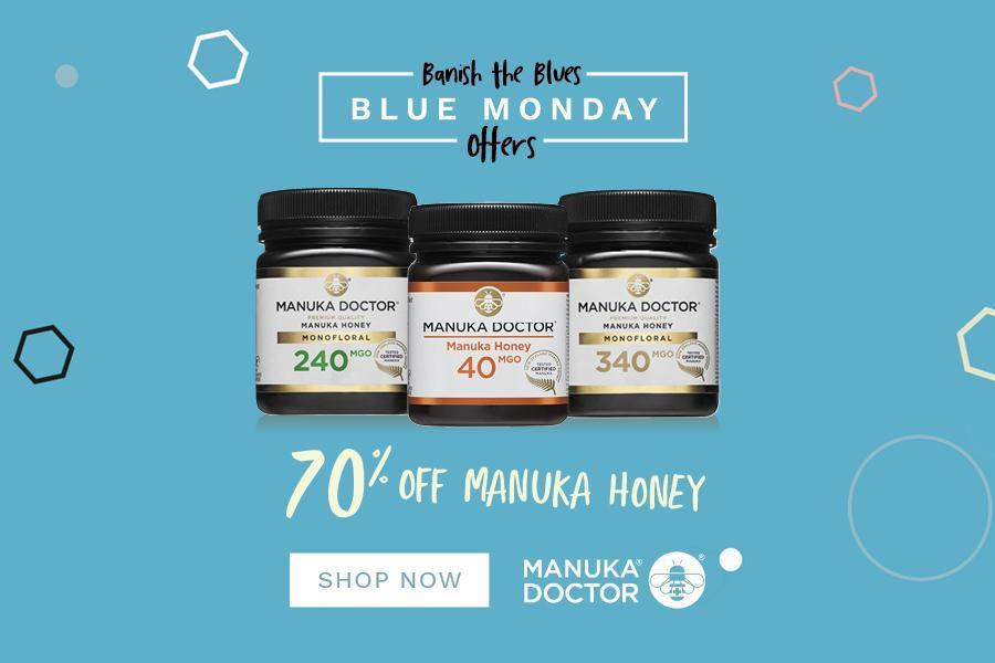 Mānuka Honey麦卢卡蜂蜜250g装一月促销折扣高达70% OFF!