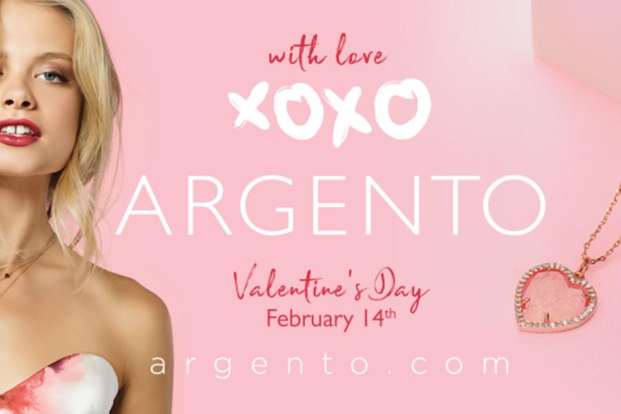 Argento   春节和情人节优惠活动买满100镑打八折!
