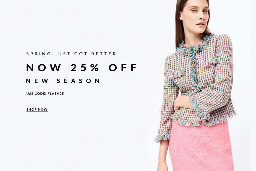L.K.Bennett | 王室最爱的英国轻奢服饰品牌全场25%OFF!