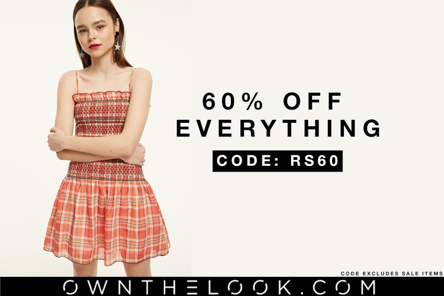 Own The Look | 新款独家60%OFF!还有折扣区低至4折同时在线!