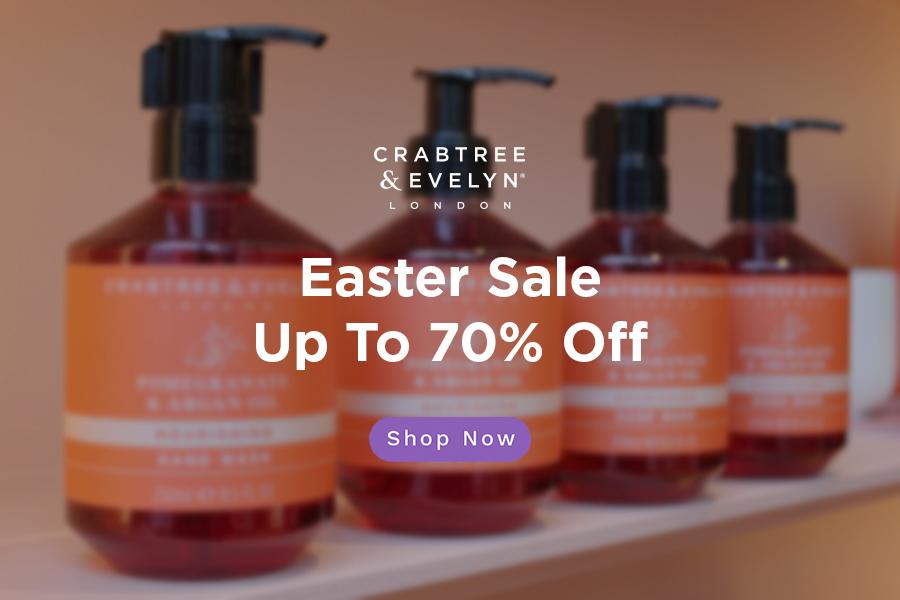 Crabtree & Evelyn | 洗护品牌复活节全场折扣高达70%OFF+限时免邮!