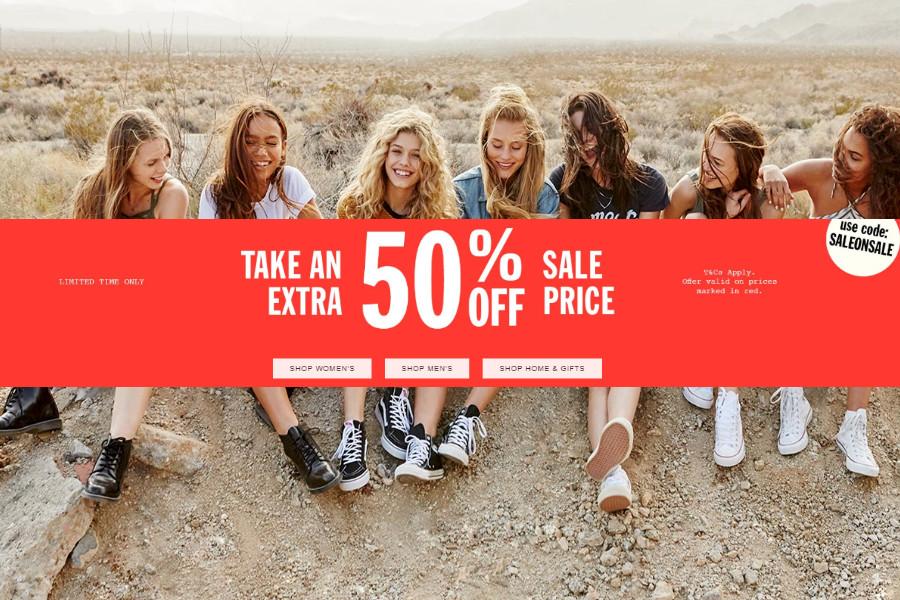 Urban Outfitters | 季中折扣精选限时额外50%OFF!