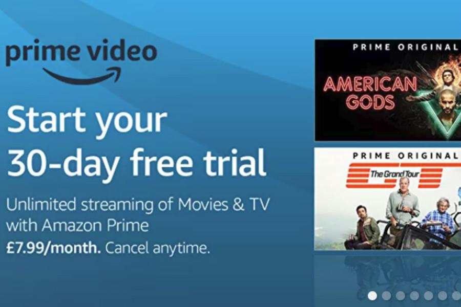 Amazon | Prime Video海量大片随你看,30天免费试用!
