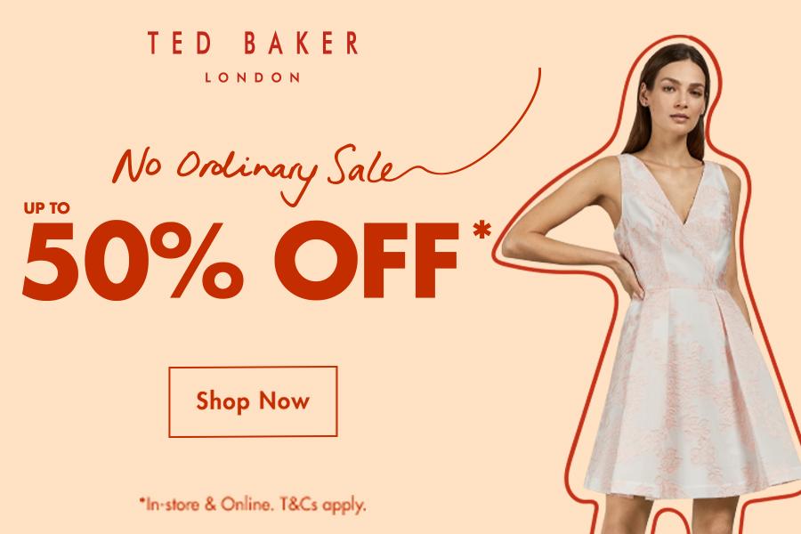 Ted Baker   英国本土轻奢品牌高达50%OFF折扣!