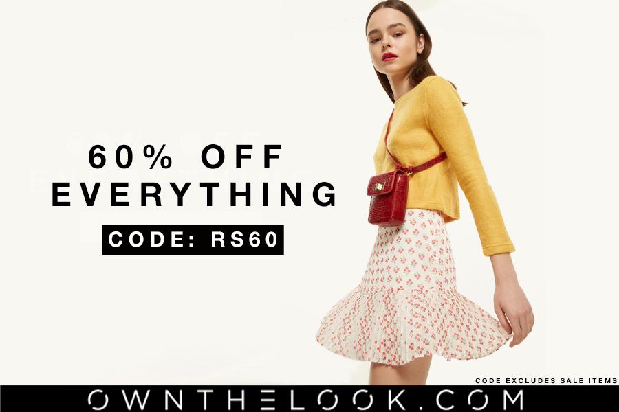 Own The Look | 全场正价商品独家60%OFF!还有折扣区低至4折同时在线!